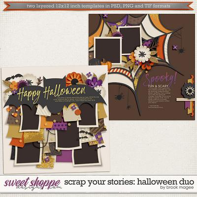 Brook's Templates - Scrap Your Stories: Halloween Duo by Brook Magee
