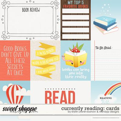 Currently: Reading - cards by Kristin Cronin-Barrow and WendyP Designs