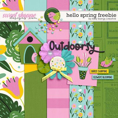 Hello Spring Freebie by Kelly Bangs Creative