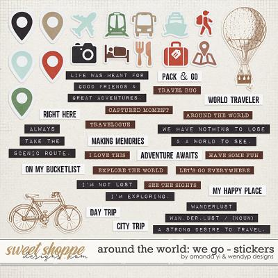 Around the world: We Go - Stickers by Amanda Yi & WendyP Designs