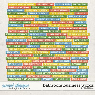 Bathroom Business Words by LJS Designs
