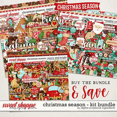 Christmas Season kit bundle by Digital Scrapbook Ingredients