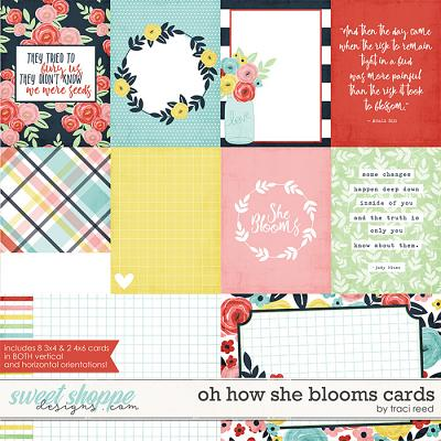 Oh How She Blooms Cards by Traci Reed