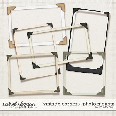 VINTAGE CORNER PHOTO MOUNTS | by The Nifty Pixel