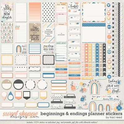Beginnings & Endings Planner Stickers by Traci Reed