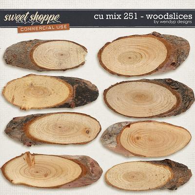 CU mix 251 - wood slices by WendyP Designs