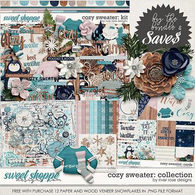 Cozy Sweater: Collection + FWP by River Rose Designs