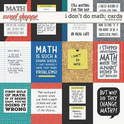 I Don't Do Math Cards by Erica Zane