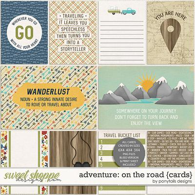 Adventure: On the Road Pocket Cards by Ponytails