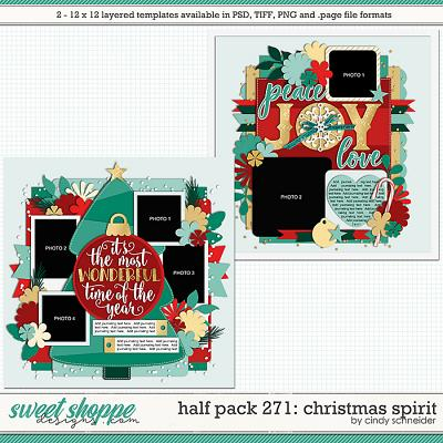 Cindy's Layered Templates - Half Pack 271: Christmas Spirit by Cindy Schneider