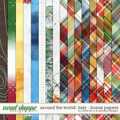 Around the world: Italy - bonus papers by Amanda Yi and WendyP Designs