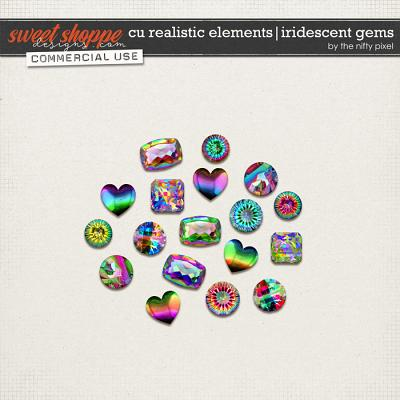 CU REALISTIC ELEMENTS | IRIDESCENT GEMS by The Nifty Pixel
