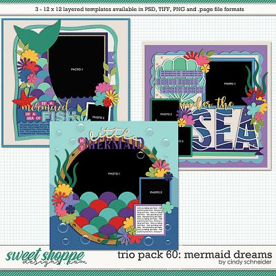 Cindy's Layered Templates - Trio Pack 60: Mermaid Dreams by Cindy Schneider