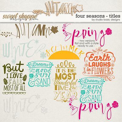 Four Seasons Titles by Studio Basic