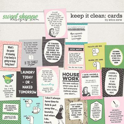Keep it Clean: Cards by Erica Zane