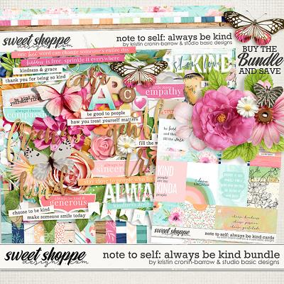 Note to Self: Always Be Kind Bundle by Kristin Cronin-Barrow and Studio Basic