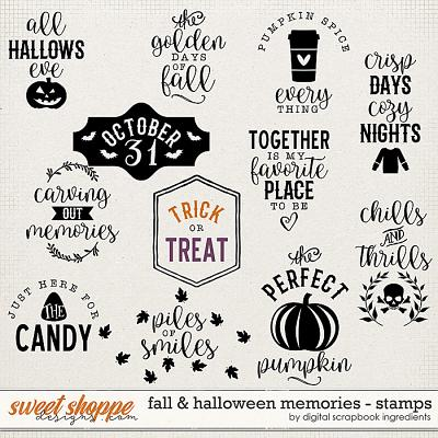 Fall & Halloween Memories | Stamps by Digital Scrapbook Ingredients