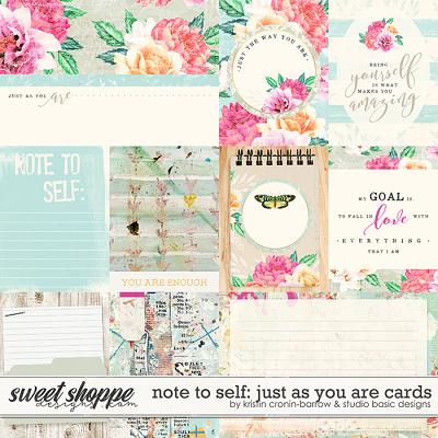 Note To Self: Just as You Are Cards by Kristin Cronin-Barrow & Studio Basic