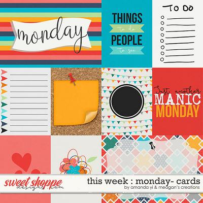 This Week: Monday - Cards by Amanda Yi & Meagan's Creations