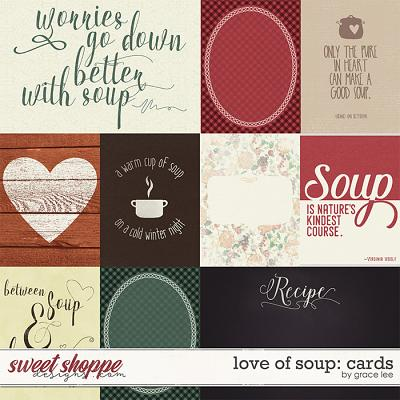 Love of Soup: Journal Cards by Grace Lee