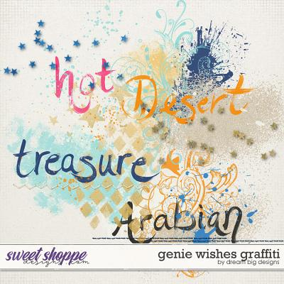 Genie Wishes Graffiti by Dream Big Designs