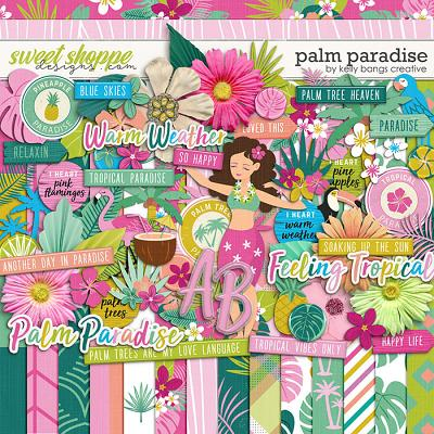Palm Paradise by Kelly Bangs Creative