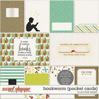 Bookworm Pocket Cards by Ponytails