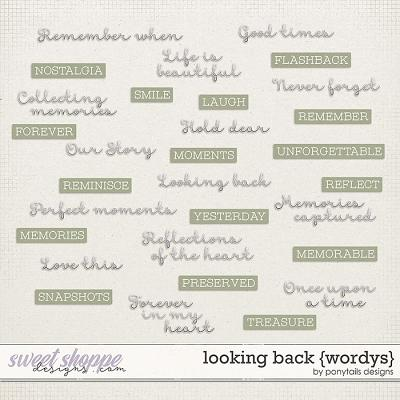 Looking Back Wordys by Ponytails