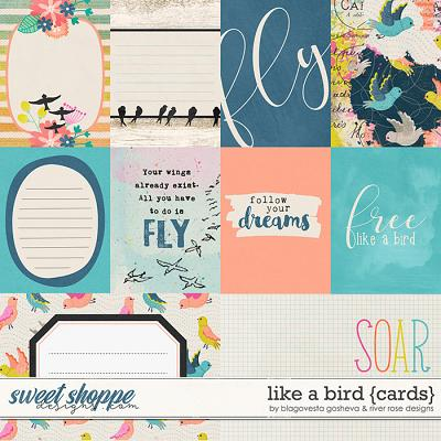 Like a Bird: Cards by Blagovesta Gosheva & River Rose Designs