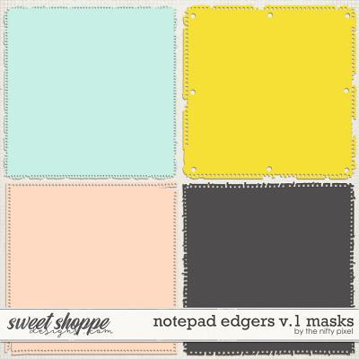 NOTEPAD EDGERS V.1 | CLIPPING MASKS by The Nifty Pixel