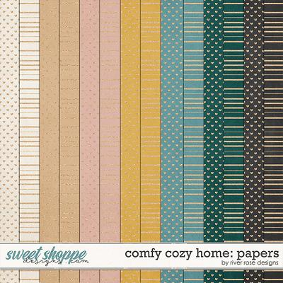 Comfy Cozy Home: Papers by River Rose Designs