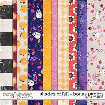 Shades of Fall - Bonus Papers by Red Ivy Design