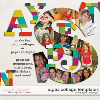 Alpha Collage Templates by Meagan's Creations