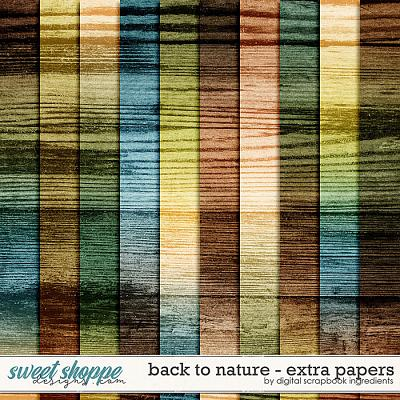 Back To Nature | Extra Papers by Digital Scrapbook Ingredients