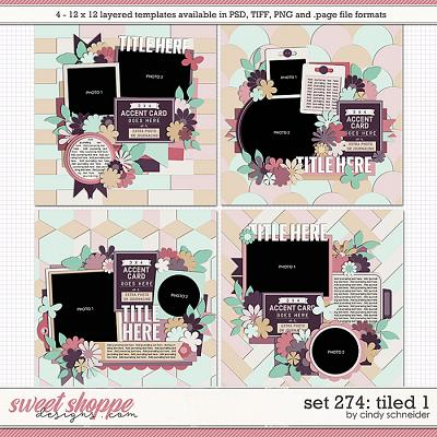 Cindy's Layered Templates - Set 274: Tiled 1 by Cindy Schneider