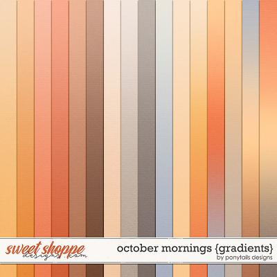 October Mornings Gradient Papers by Ponytails