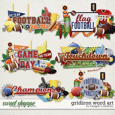 Gridiron: Word Art by Meagan's Creations
