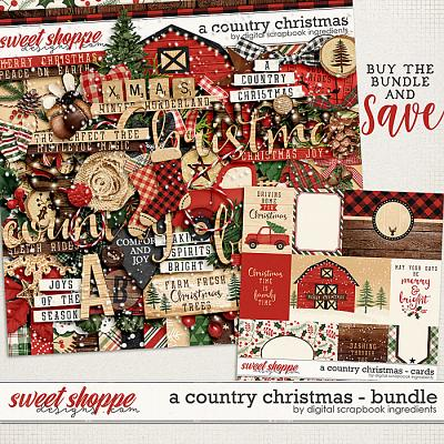 A Country Christmas Bundle by Digital Scrapbook Ingredients