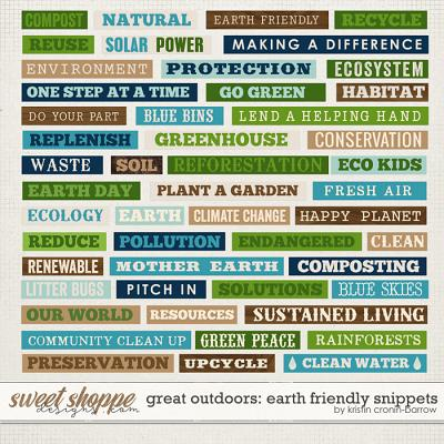Great Outdoors: Earth Friendly Snippets by Kristin Cronin-Barrow