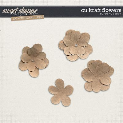 CU Kraft Flowers by Red Ivy Design