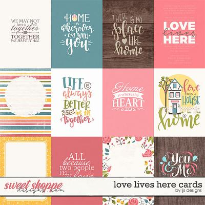 Love Lives Here Cards by LJS Designs