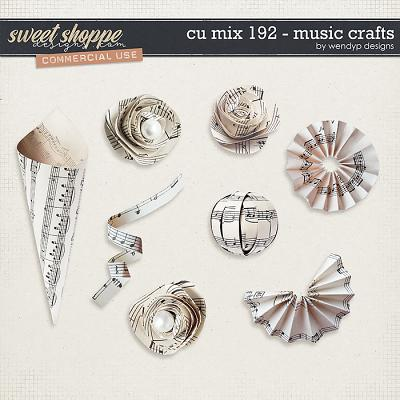 CU Mix 192 - music crafts by WendyP Designs
