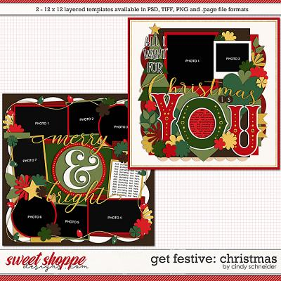 Cindy's Layered Templates - Get Festive: Christmas by Cindy Schneider