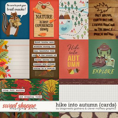 Hike into Autumn Cards by Blagovesta Gosheva & Clever Monkey Graphics