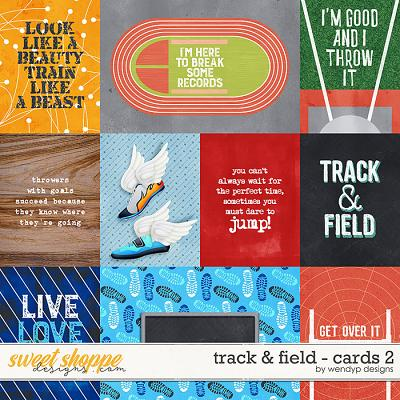 Track & field - Cards 2 by WendyP Designs