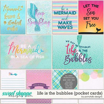 Life is the Bubbles Pocket Cards by Ponytails