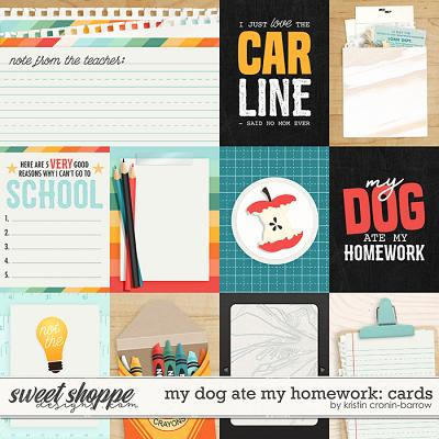 my dog ate my homework: cards by Kristin Cronin-Barrow