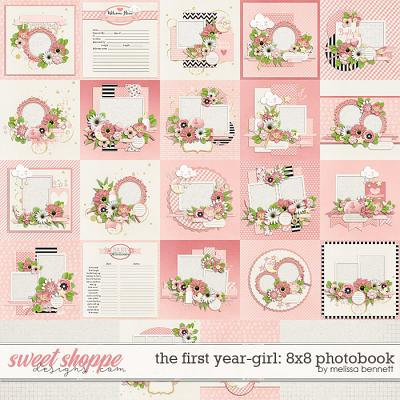 The First Year-Girl 8x8 Photobook by Melissa Bennett