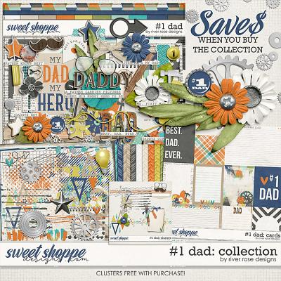 Number 1 Dad: Collection + FWP by River Rose Designs