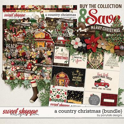 A Country Christmas Bundle by Ponytails